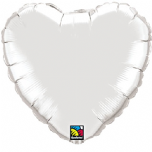 "Silver Heart Foil Balloon (36"") 1pc"